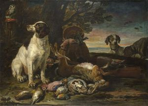 David De Coninck - ad Birds and Game with Gun Dogs and a Little Owl