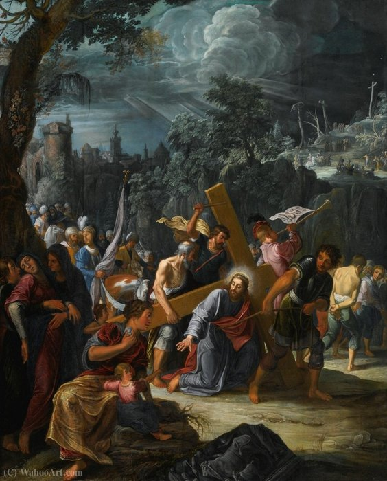 Christ on the road to calvary by David Teniers The Elder (1582-1649, Belgium) | Famous Paintings Reproductions | WahooArt.com