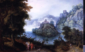Denis Van Alsloot - Landscape with Tobias and the Angel