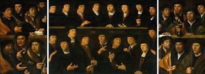 Order Paintings Reproductions | Militia painting in three parts. by Dirck Jacobsz (1497-1567, Netherlands) | WahooArt.com