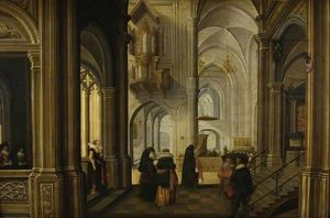 Dirck Van Delen - Interior of a Church