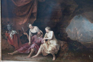Order Museum Quality Reproductions : Lot and his daughters by Dirck Van Der Lisse (1607-1669, Netherlands) | WahooArt.com