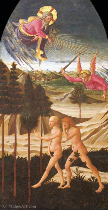 Expulsion from Paradise by Domenico Di Michelino (1417-1491, Italy) | Art Reproduction | WahooArt.com
