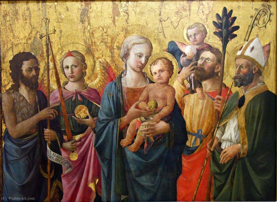 Madonna and Saints by Domenico Di Michelino (1417-1491, Italy)