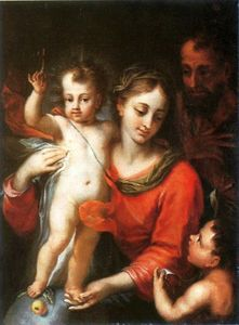 Domenico Piola - Holy family.