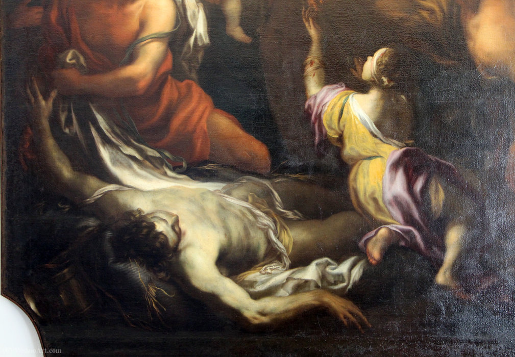 miracle of Blessed Savior from Horta, genoa by Domenico Piola (1627-1703, Italy) | Art Reproduction | WahooArt.com