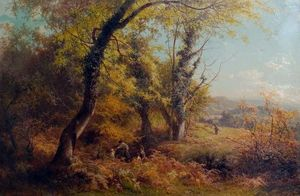 Edward Henry Holder - October in Surrey Children Nutting