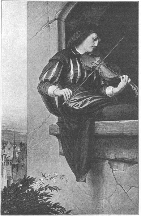 Order Reproductions | The violin player by Edward Jakob Von Steinle (1810-1886, Austria) | WahooArt.com