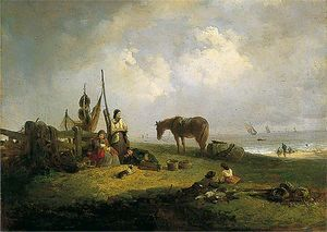 Edward Robert Smythe - Beach scene