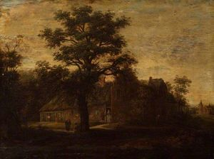 Order Reproductions | Landscape with a House by a Wood by Emanuel Murant (1622-1700, Netherlands) | WahooArt.com