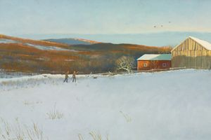 Eric Sloane (Everard Jean Hinrichs) - Hunting in winter