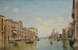 Federico Del Campo - View of the Grand Canal of Venice