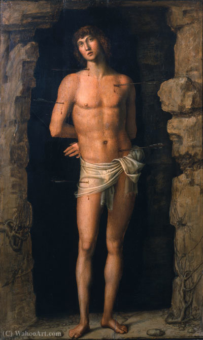 Sebastian by Francesco Bonsignori (1460-1519, Italy) | Oil Painting | WahooArt.com