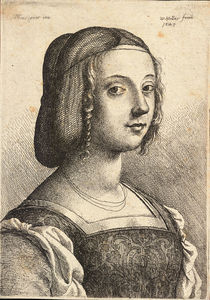 Francesco Bonsignori - Young woman, after Bonsignori.