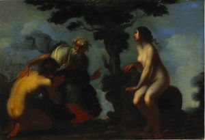 Francesco Furini - Adam and Eve