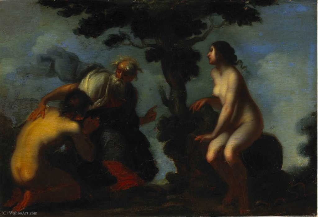 Adam and Eve by Francesco Furini (1603-1646, Italy)