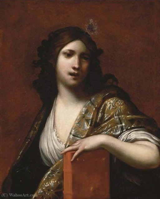 Clio, the Muse of History by Francesco Furini (1603-1646, Italy)