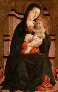 Francesco Di Stefano Pesellino - Madonna and Child Enthroned