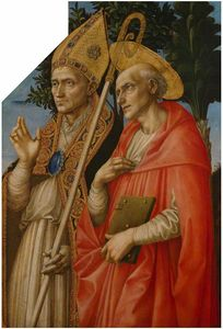 Order Painting Copy : Saints Zeno and Jerome by Francesco Di Stefano Pesellino (1422-1457) | WahooArt.com