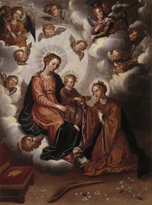 Francisco Pacheco - Mystic Marriage of St. Agnes