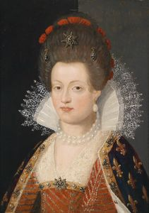 Frans The Elder Pourbus - Portrait of Maria de Medici