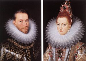 Frans The Elder Pourbus - Portraits of Archduke Albrecht and Archduchess Isabella