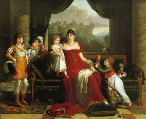 François Xavier Fabre - Portrait of General Clarke with her four children