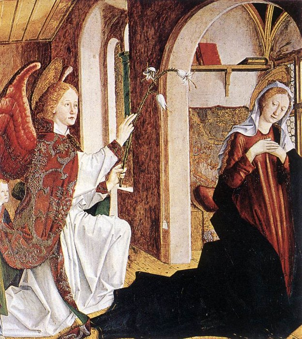 The annunciation by Friedrich Pacher (1474-1508, Italy)