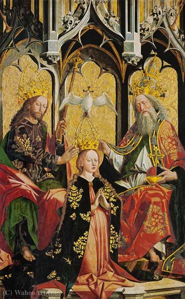 The Coronation of the Virgin by Friedrich Pacher (1474-1508, Italy)
