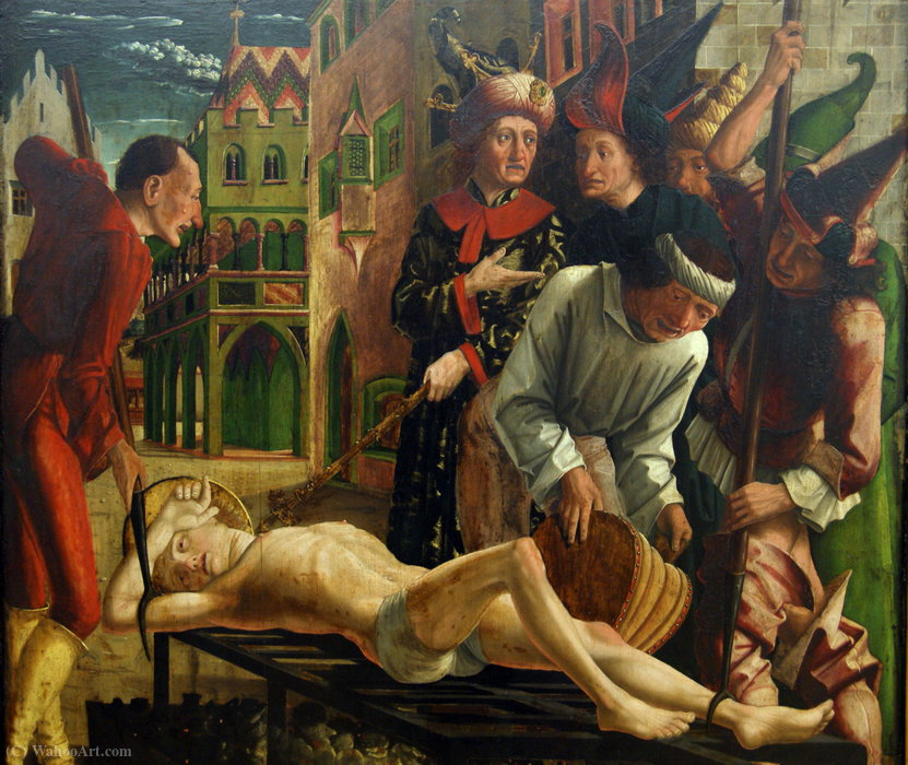 The Martyrdom of St. Lawrence by Friedrich Pacher (1474-1508, Italy)