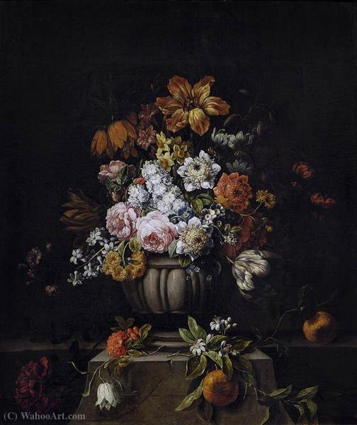 Vase with Flowers by Gaspar Pieter The Younger Verbruggen (1664-1730, Belgium)