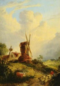 Order Oil Painting : A norfolk mill by George Vincent (1796-1831, United Kingdom) | WahooArt.com