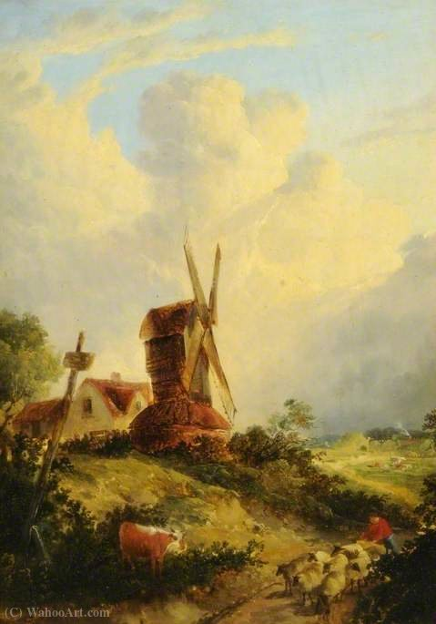A norfolk mill by George Vincent  (order Fine Art fine art print George Vincent)