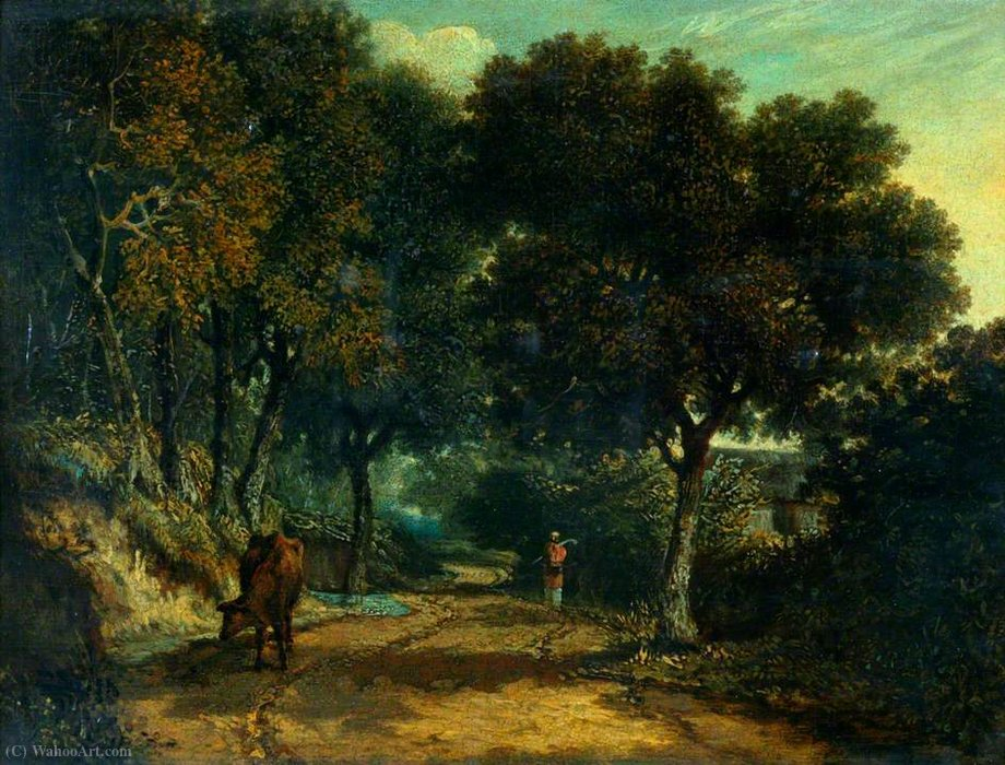 A shady country road by George Vincent (1796-1831, United Kingdom)