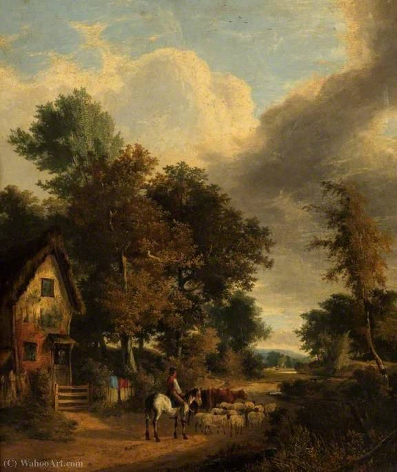 Grove scene, norwich by George Vincent (1796-1831, United Kingdom) | Museum Quality Reproductions | WahooArt.com