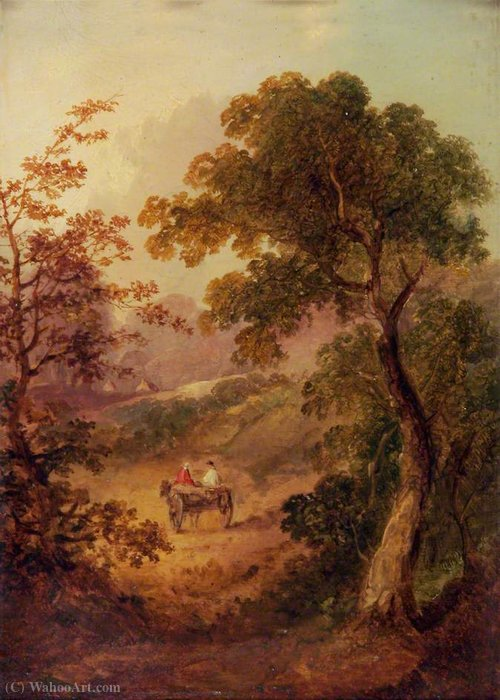 Landscape with a Cart by George Vincent (1796-1831, United Kingdom) | Art Reproduction | WahooArt.com
