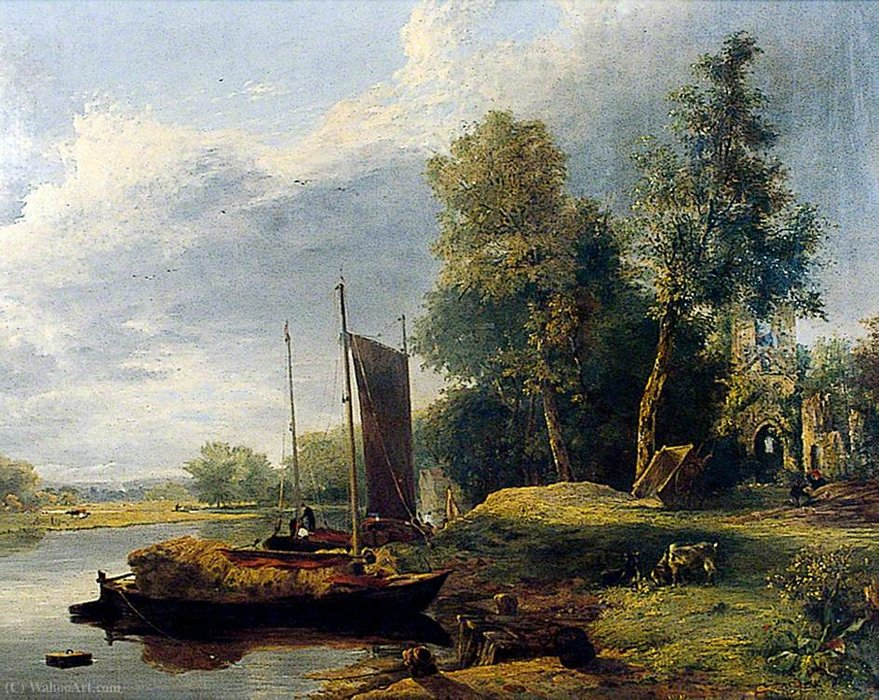 On the River Yare, Norfolk by George Vincent (1796-1831, United Kingdom)