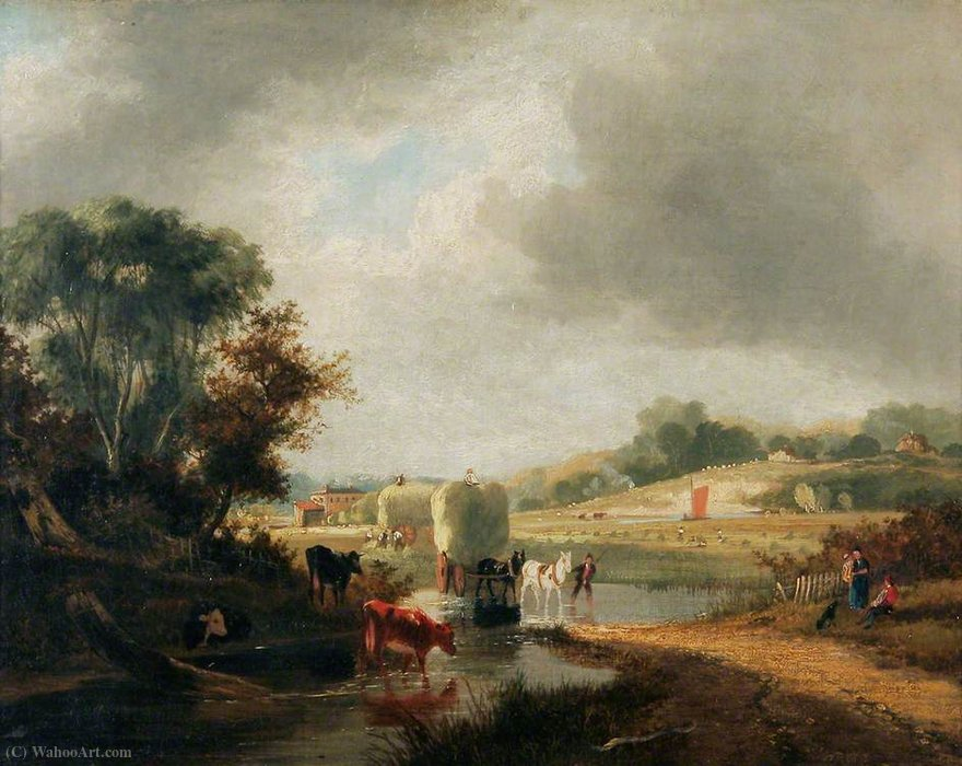 Trowse Hythe, near Norwich by George Vincent (1796-1831, United Kingdom)
