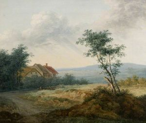 View near Norwich, Norfolk by George Vincent  (order Fine Art hand made painting George Vincent)