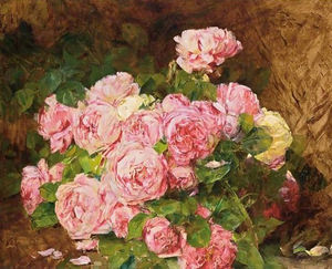 Georges Jeannin - A bunch of pink peonies