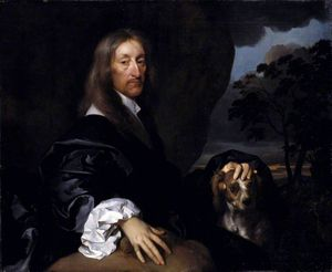 Gerard Soest - Portrait of a Gentleman with a Dog, Probably Sir Thomas Tipping