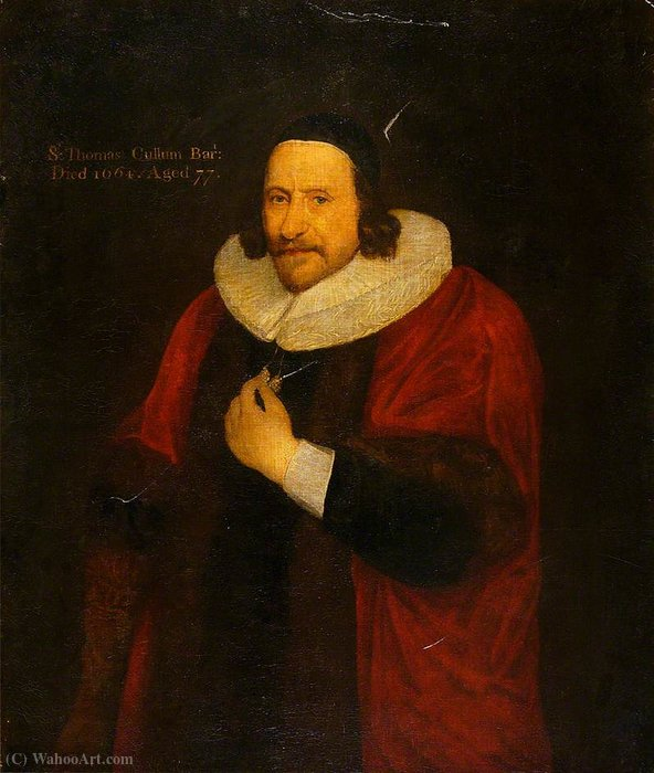 Sir thomas cullum by Gerard Soest (1600-1681, Germany) | Reproductions Gerard Soest | WahooArt.com