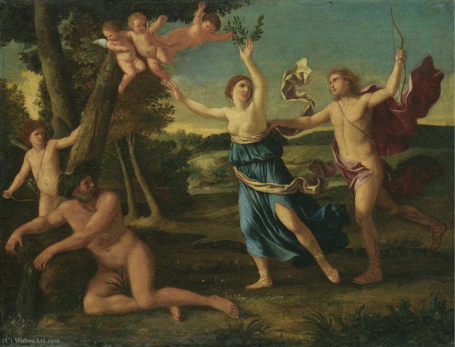 Apollo and daphne by Giacinto Gimignani (1606-1681, Italy) | Oil Painting | WahooArt.com