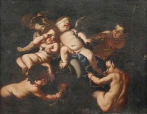 Giovanni Andrea Podesta - Playing Putti and Faunsknaben