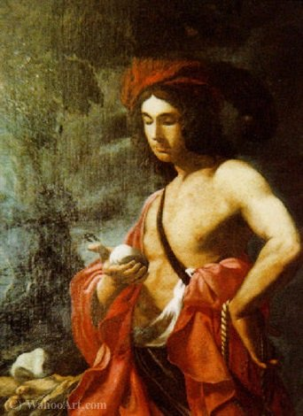 Order Reproductions | David by Giovanni Battista Spinelli (1613-1658, Italy) | WahooArt.com