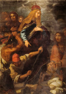 Giovanni Bilivert - sant'elena who leads the excavations for the discovery of the Holy Cross