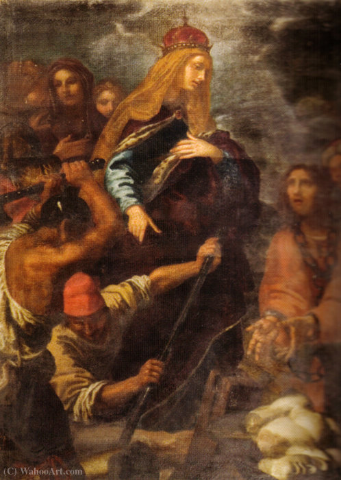sant`elena who leads the excavations for the discovery of the Holy Cross by Giovanni Bilivert (1585-1644, Italy) | Oil Painting | WahooArt.com