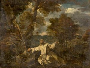 Giovanni Francesco Grimaldi - Saint Bruno in a Landscape