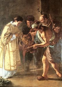 Giovanni Serodine - Saint lawrence distributing alms