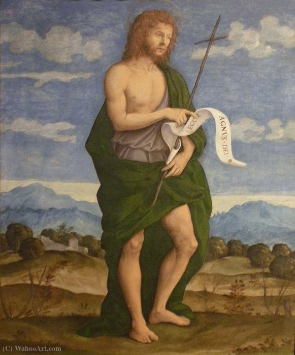 Saint John the Baptist by Girolamo Da Santacroce (1480-1556, Italy)